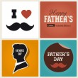 Happy fathers day card vintage retro type font — Vector de stock
