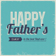 Happy fathers day card vintage retro type font — Stok Vektör #22482137