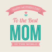 Happy mothers day card vintage retro type font — Stock vektor