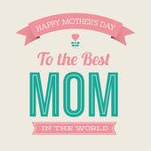 šťastné matky den kartu vinobraní retro typ písma — Stock vektor