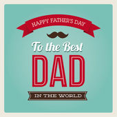 Happy fathers day card vintage retro type font — Stockvector