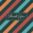 Stripes seamless pattern background vector, thank you card — Imagens vectoriais em stock