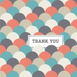 Circle japanese seamless pattern background vector, thank you card — Image vectorielle