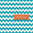 Chevron seamless pattern background vector, thank you card — Vector de stock #23434712