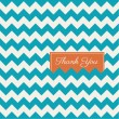 Chevron seamless pattern background vector, thank you card — Stock Vector