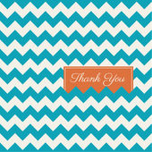 Chevron seamless pattern background vector, thank you card — ストックベクタ
