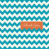 Vector fondo de chevron de patrones sin fisuras, gracias tarjeta — Vector de stock