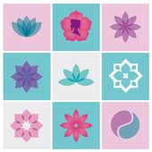 Logotipo de spa flores — Vector de stock