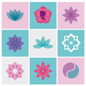 Logotipo de spa flores — Vector de stock