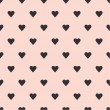 Hearts seamless pattern background — Stockvektor