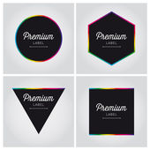 Premium quality label vector set editable — Stock Vector