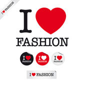 I love fashion — Vector de stock