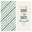 Stock Vector: Wedding invitation card editable with background stripes
