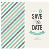 Wedding invitation card editable with background stripes — ストックベクタ