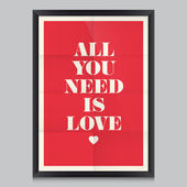 Love quote poster — Vettoriale Stock
