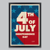 Happy independence day poster, United States of America, 4 th of July — Stock Vector