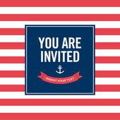 Happy birthday invitation card. Sailor theme — Stock Vector