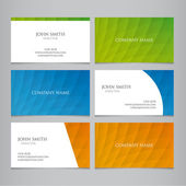 Business card vector template — Vettoriale Stock