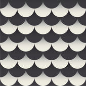 Fish scales seamless pattern background retro vintage design vector — Stock Vector