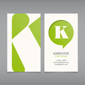 Business card vector template — Stok Vektör