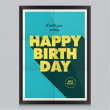 Happy birthday poster, card — Stock Vector #27596925