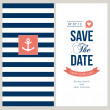 Vector de stock : Wedding invitation card