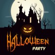 Happy halloween party poster — Vector de stock