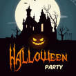 Vector de stock : Happy halloween party poster