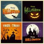 Happy halloween cards — Stock Vector