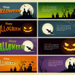 Happy halloween banner — Stock Vector