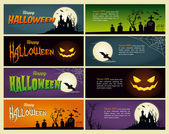 Happy halloween banner — Stock Vector