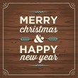 Stock vektor: Merry christmas and happy new year card
