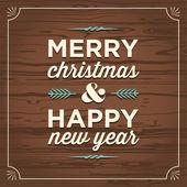 Feliz navidad y feliz año nuevo tarjeta — Vector de stock