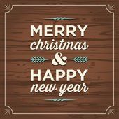 Veselé vánoce a šťastný nový rok karta — Stock vektor