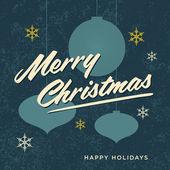 Feliz natal cartão retro vintage — Vetor de Stock
