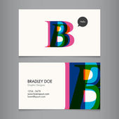 Business card template — Stock vektor