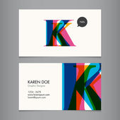Business card template — Stok Vektör