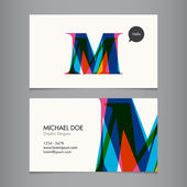 Business card template — Vettoriale Stock