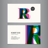 Business card template — Vecteur