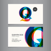 Business card template — Stockvector