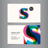 Business card template — ストックベクタ