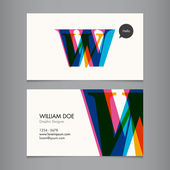 Business card template — Stockvektor