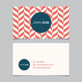 Business card template pattern — Vector de stock