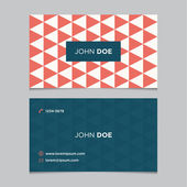 Business card template pattern — Stock Vector