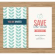 Wedding card invitation, pattern vector design — Vector de stock #33850467
