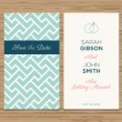 Wedding card invitation, pattern vector design — Imagens vectoriais em stock