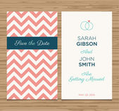 Wedding card invitation, pattern vector design — Stock Vector