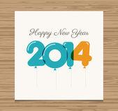 счастливый новый год карта — Cтоковый вектор