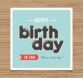Mutlu doğum günü kartı — Stok Vektör