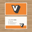 Business card with alphabet letter. — Image vectorielle
